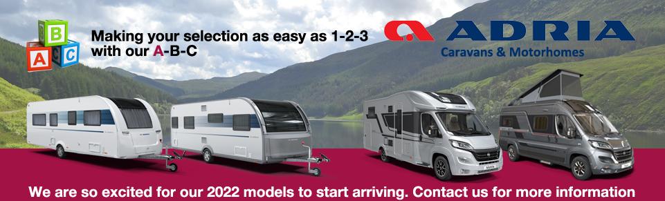 NEW Adria Caravans and Motorhomes at Dyce Caravans