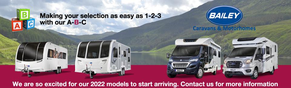 NEW Bailey Caravans and Motorhomes at Dyce Caravans