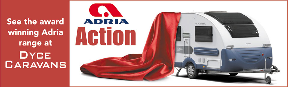 See NEW Adria Action Caravans at Dyce Caravans
