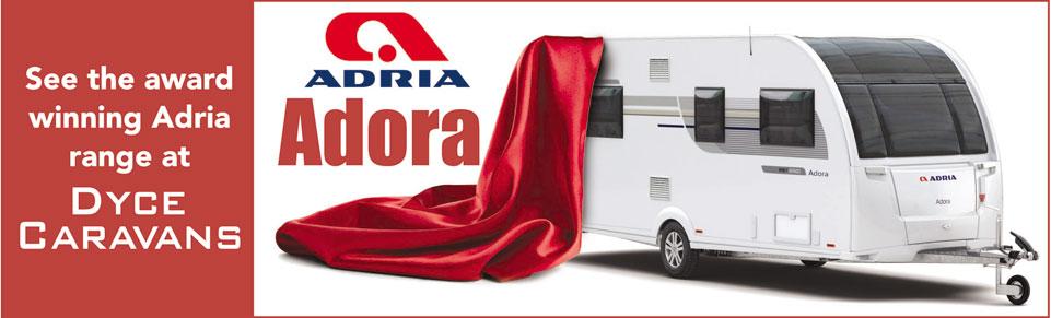 See NEW Adria Adora Caravans at Dyce Caravans