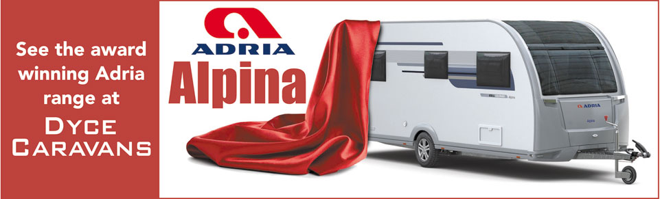See NEW Adria Alpina Caravans at Dyce Caravans