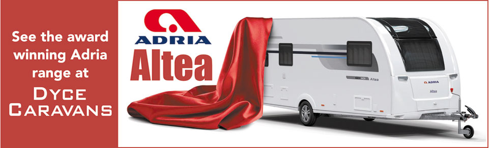 See NEW Adria Altea Caravans at Dyce Caravans
